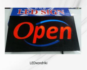 πινακίδα led open