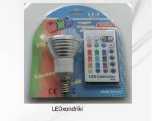 τηλεκοντρόλ led λάμπα RGB