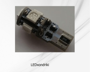 T10 Can Bus με 5 SMD 5050 Ψυχρό Λευκό